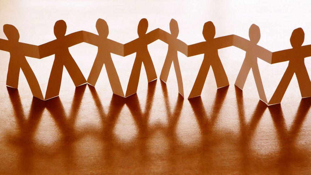 Paper chain Teamwork, workplace, corporate development